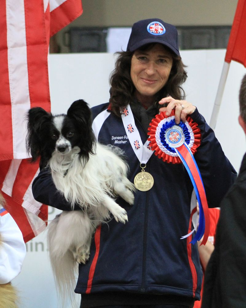 On the podium at the WAO World Agility Championships